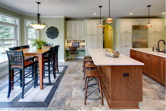 Delight kitchen lighting with beams #Kitchenlighting #Kitchenideas #Kitchen #Home #House