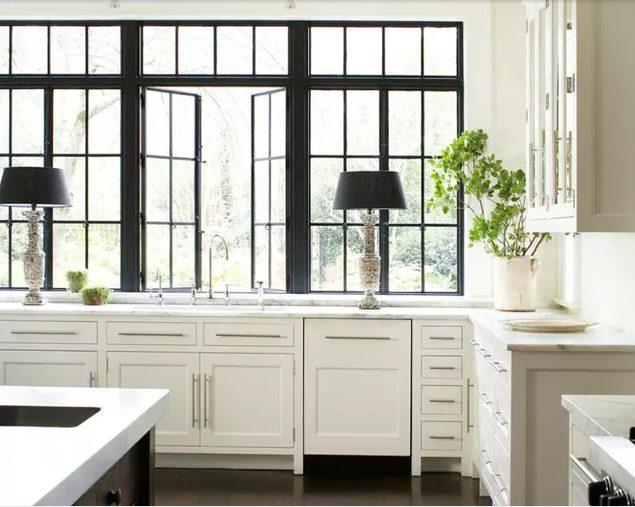 Staggering kitchen island windows #Kitchen #Kitchenwindows #Homedecor #Kitchendesigns