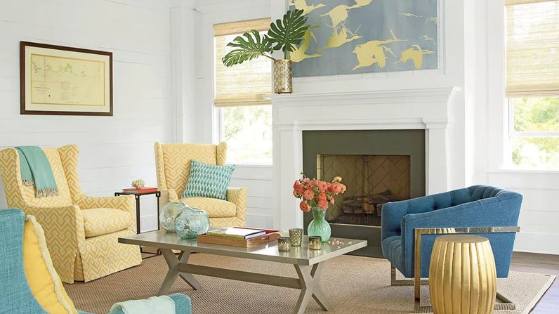 Eye-opening modern living room hgtv #Homedecor #Livingrooms # Rooms # Interiordesigns