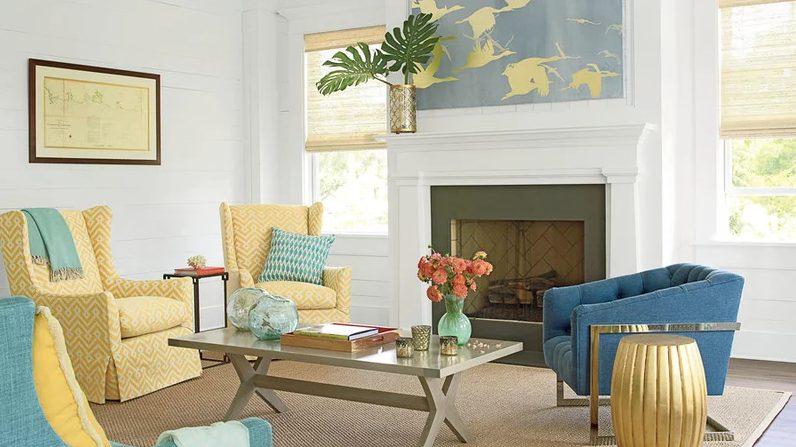 Eye-opening modern living room hgtv #Homedecor #Livingrooms # Rooms # Interiordesigns
