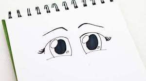 Cartoon Eyes Drawing