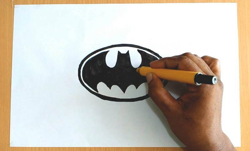 Batman Shield Drawing