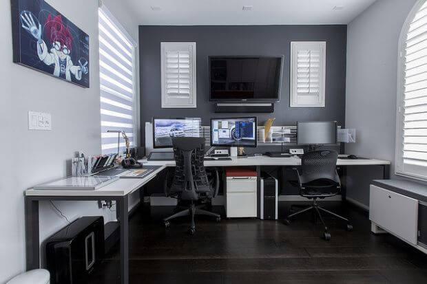 Striking home office of walmart #homeoffice #office #design #homedecor #homework #work