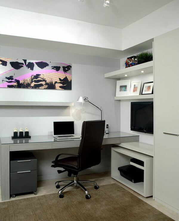 Uplifting home office modern #homeoffice #office #design #homedecor #homework #work
