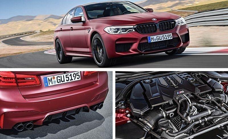 Sports car BMW M5