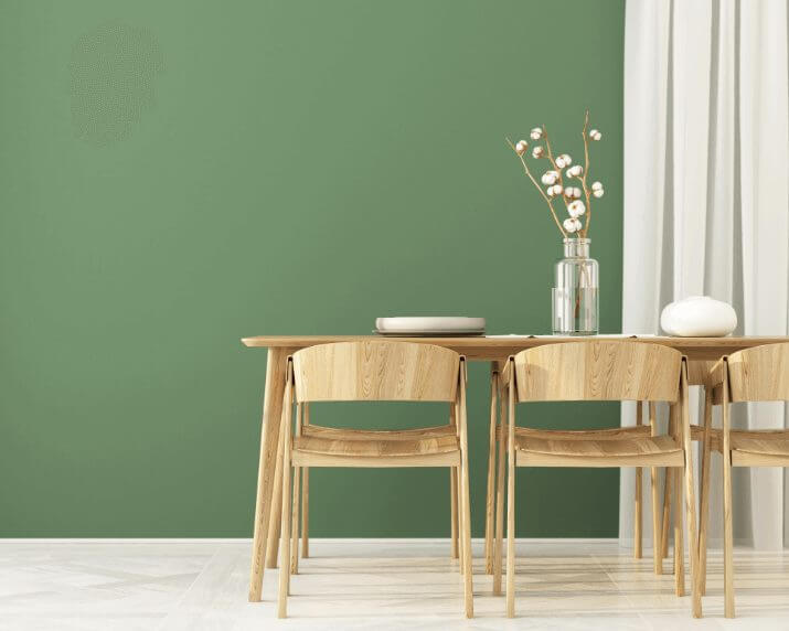 Green Dinning Room Paint Color Ideas