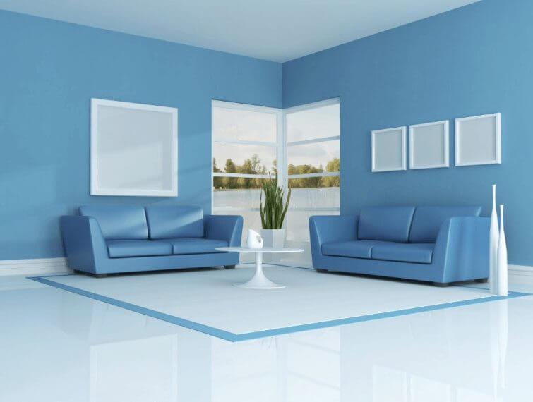Modern Blue Living Room Color Ideas