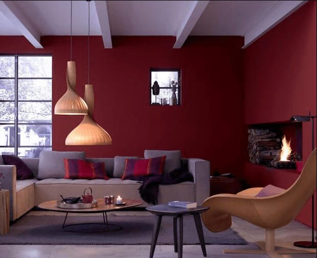 Modern Red Living Room Color Ideas