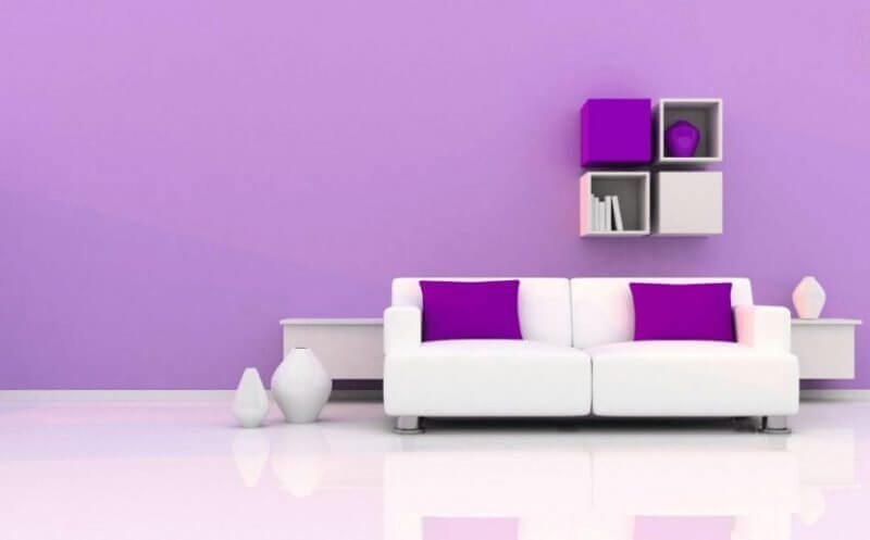 Purple Living Room Color